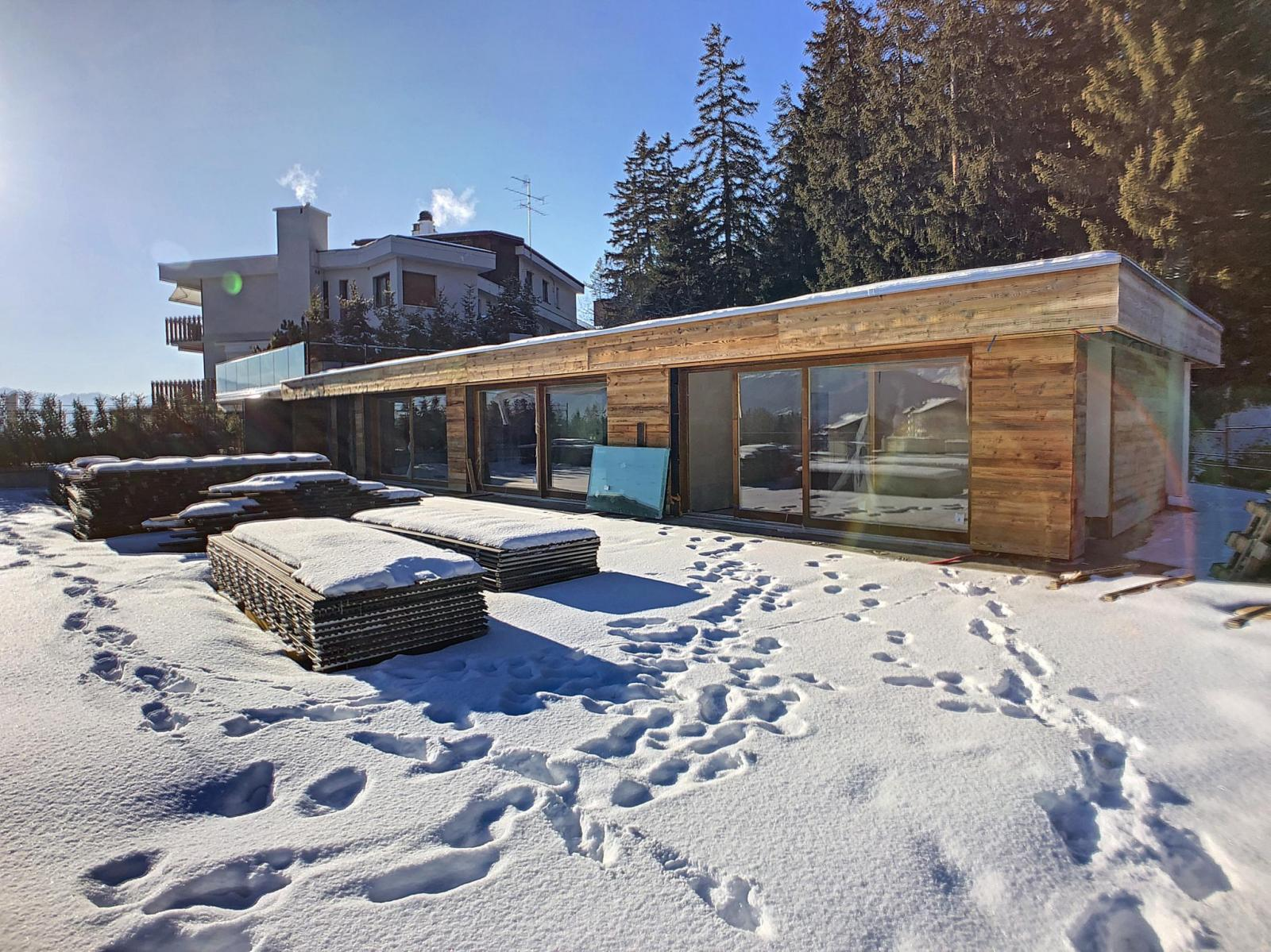 Crans-Montana - in the heart of crans, splendid duplex penthouse + service studio